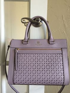Kate Spade Perri Lane Romy Satchel Full Size Large Lilac Bliss | eBay
