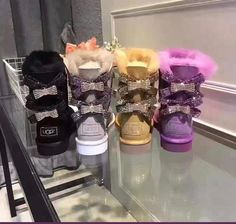 Shoe box INCLUDED (box may arrive damage due to shipping and handling) Order according to size chart. Cute Uggs, Cute Boots, Sneakers Fashion, Fashion Shoes, Bow Sneakers, Fashion Fashion, Runway Fashion, Fashion Trends, Ugg Shoes