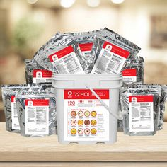American Red Cross 4-Person 72 Hour Food Kit 120 Total Servings