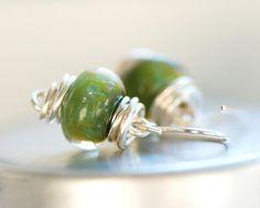 Boro glass earrings