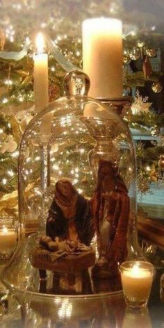 A beautiful way to display nativity.