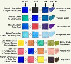 1408 best watercolor color palettes mixes images on pinterest in