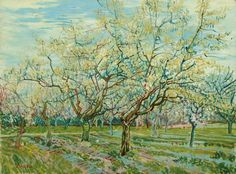 """Vincent van Gogh, """"The white orchard,"""" 1888."""