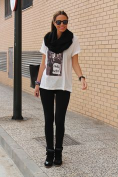 Simple black and white with a grayscale graphic tee