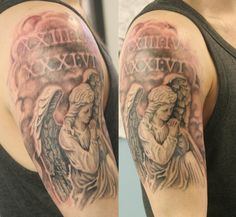 Praying angel sleeve
