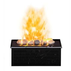 """Dimplex Opti-Myst"" is newlly launched range of electric fireplace heaters. Dimplex is a trusted name in electric fireplace inserts and parts! Dimplex Fireplace, Media Fireplace, Custom Fireplace, Fireplace Ideas, Dimplex Electric Fireplace, Wall Mount Electric Fireplace, Tabletop Fireplaces, Wood Burning Fires, Crushed Glass"