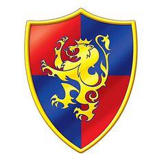 Medieval Crest Cutout, Lion Crest Cutout