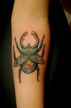 Karolina Bebop give a scarab beetle spir… - Tattoo Designs Men Trendy Tattoos, Small Tattoos, Tattoos For Women, Tattoos For Guys, 1 Tattoo, Body Art Tattoos, Leg Tattoos, Tatoos, Scarab Beetle Tattoo