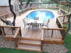 Easy Above Ground Pool Decks - Bing Images