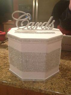 DIY Cardbox :) :  wedding bling cardbox diy purple Cardsbox