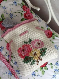 Hookin' With Laalaa: A home for my PJs  love the cross stitch embroidery!