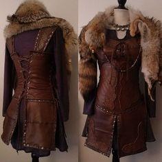 Image of Custom Freydis leather armor Viking Armor, Medieval Armor, Viking Costume, Female Armor, Armor Concept, Concept Art, Leather Armor, Medieval Clothing, Cosplay Outfits