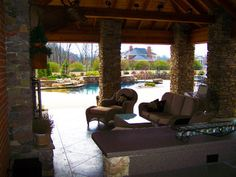 Eads Area Residence Pool, Spa, Poolhouse, & Outdoor Living Design - traditional - patio - other metro - by J. Brownlee Design
