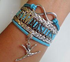 Gymnastics bracelet Gymnastics player Infinity by SummerWishes