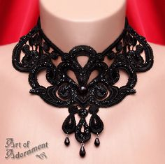 Burlesque Venezia Lace Choker by ArtOfAdornment.deviantart.com on @deviantART
