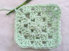 Crochet Granny Square, Round 3