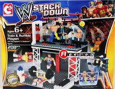 The Bridge Direct WWE StackDown Train & Rumble WWE Playset with Rey Mysterio & Sheamus Figures, 219 pieces Sports Illustrated Kids, 6 Train, Sheamus, Arcade Games, Wwe, Action Figures, Wrestling, Baseball Cards, Toys