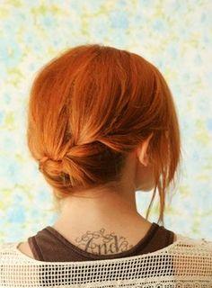 Casual Updos for Medium Length Hair11