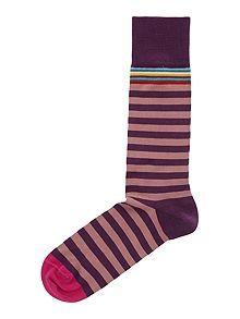 Paul Smith London Multi-coloured top stripe socks