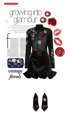 """Vintage florals 🌹"" by anduu19 on Polyvore featuring GCDS, Zeynep Arçay, Dolce&Gabbana, Gucci, Prada, Yves Saint Laurent and vintage"