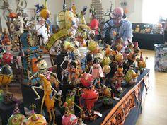 Folk art pieces by Jorge de Rojas of Ho Ho Halloween at Halloween and Vine 2009.