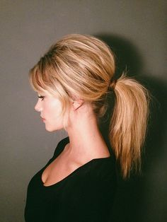 '60s Brigitte Bardot inspired ponytail {tutorial}