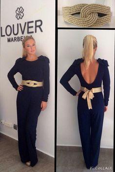 #Louvermarbella#mono#azulmarino#cinturon#pasamaneria#dorado