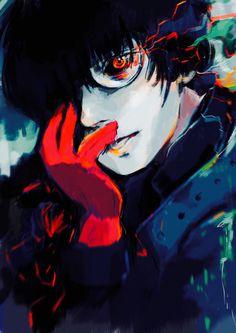 """The black reaper"" by tealilie.tumblr.com     Kaneki - Tokyo Ghoul"