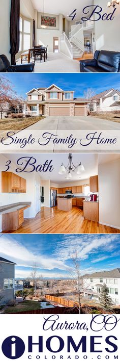 Stunning 4 bedroom, 3 bath home for sale in Aurora, CO. Mountain views, Cherry Creek School District, Close to shopping and more!