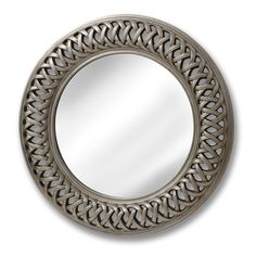 Entwined Lattice Silver Mirror | From Baytree Interiors