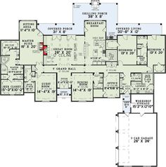 Plan W60502ND: European, Photo Gallery, French Country, Luxury House Plans & Home Designs: