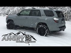 """Just a quick snippet of Four's first snow ❄️, we don't get much here in NC, but when we do, I'm ready : ) """"Snow Runner"""" 2017 Toyota TRD Pro """"Cement"""" 2017 Toyota 4runner, Toyota 4runner Trd, Car Colors, Colours, Trucks, Snow, Cars, Youtube, Autos"""