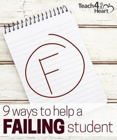 Knowing how to help a failing student can be challenging. Here are 9 ideas of what you can do to make a difference.