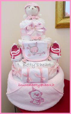 Torte di Pannolini Betty\u0027s heart , Diaper Cakes