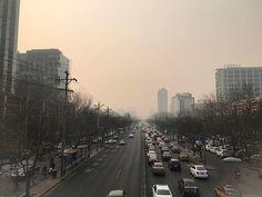 Sunset in no filter Beijing no.1 #nofilter #beijing #china #airpocalypse #airpollution #badday #yellowair #sunset #citylife #citygram #instacity #trafficjam #traffic #cars #explore #dontbreathe #onthestreet #road #ontheroad #travel #travelgram