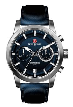 Swiss Military by R 09501 3 BU Sniper Men's Watch Chronograph Blue Nylon Strap