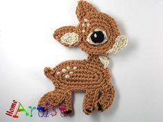Deer Crochet Applique Pattern