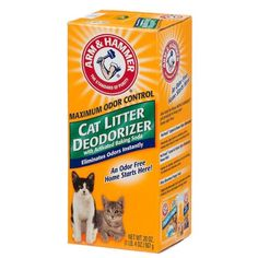 ARM - HAMMER Cat Litter Deodorizer With Activated Baking Soda 20 oz (Pack of 5) - http://pets.goshoppins.com/cat-supplies/arm-hammer-cat-litter-deodorizer-with-activated-baking-soda-20-oz-pack-of-5/