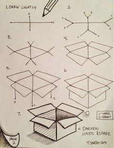 How to draw a box: step by step: