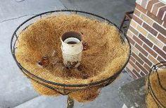 Repurposed Floor Lamp Planter - Floor Plants - Ideas of Floor Plants - Hometalk Fall Planters, Hanging Planters, Hanging Baskets, Chandelier Planter, Garden Planters, Garden Crafts, Garden Projects, Garden Ideas, Backyard Ideas