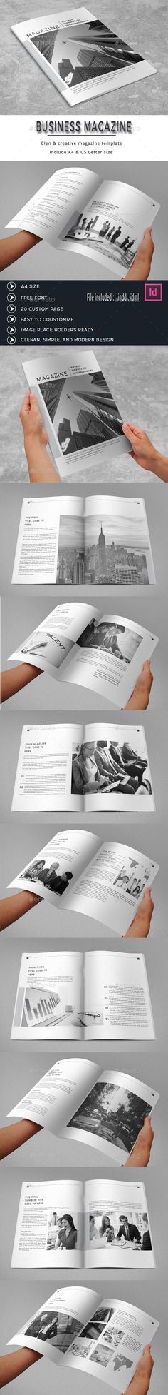 Minimal White Business Magazine by obayes  Brochure Description:Minimal Business Magazine Template that is super simple to edit and customize with your own details!Corporat