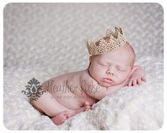 Neugeborene Krone süßeste kleine Gold Lace von hoolovesyoubaby