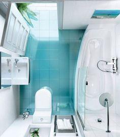 Diseño de baño pequeño moderno 003
