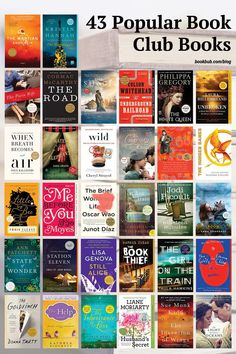 43 of the most popular book club reads from the last decade. #books #bookclub #bookclubbooks Book Club Reads, Book Club Books, Reading Lists, Book Lists, Most Popular Books, Thriller Books, Books For Teens, Fantasy Books, Historical Fiction