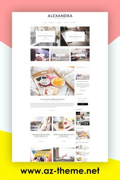"Alexandra - WordPress Theme Blog - WordPress Website - WordPress Template - Blog Theme - WordPress Blog - ""Alexandra"" Instant Digital Download. Purchasing this theme you take advantage of Free Support & Installation. #wordpressthemeblog #wordpresswebsite #wordpresstemplate"