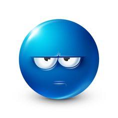 Blue Emoji, Emoji Love, Smiley Emoji, Animated Emoticons, Funny Emoticons, Lany, Smiley Face Images, Smiley Faces, Funny Emoji Faces