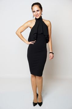 Halter choker frill party dress £19.99 at offtherailsoutlet.co.uk