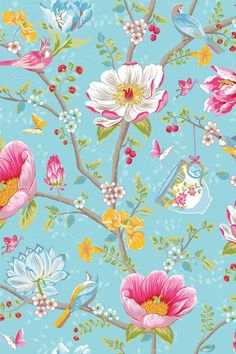 Chinese Garden Behang Lichtblauw Pip Studio | Pip Studio the Official website