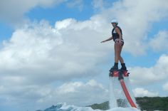 Flyboarden, the ultimate watersport experience. I tried this in the Caribbean on the island Curaçao.
