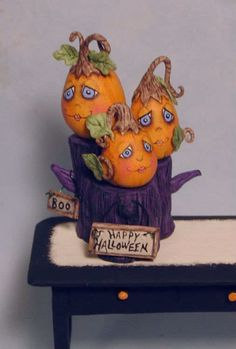Puppenstuben & -häuser Artisan Dolls House Polymer Clay magic pumpkin garden Ooak Figure 1:12th